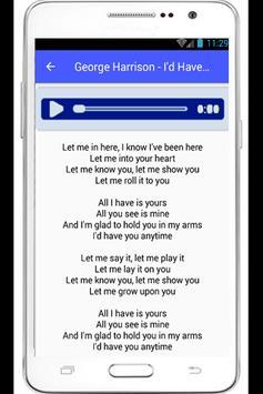 George Harrison Lyrics Beatles poster