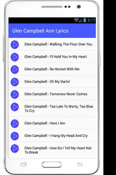 Glen Campbell Forgets Lyrics apk screenshot