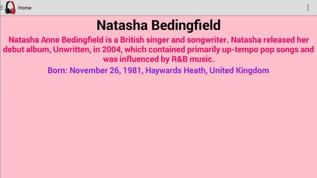 Natasha Bedingfield Lyrics poster