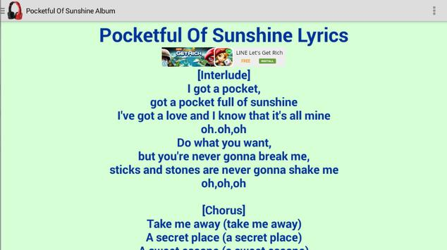 Natasha Bedingfield Lyrics screenshot 3