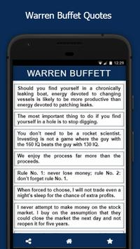 Warren Buffet Quotes poster