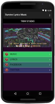 Survive Lyrics Music apk screenshot