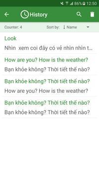 Vietnamese - English Translato apk screenshot