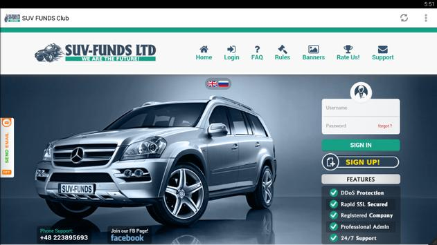 SUV FUNDS Club Recovery poster