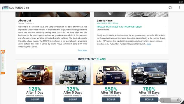SUV FUNDS Club Recovery apk screenshot