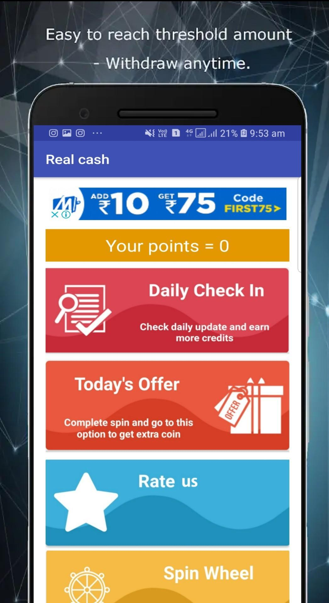 Real Cash Pro - Daily Free Recharge for Android - APK Download