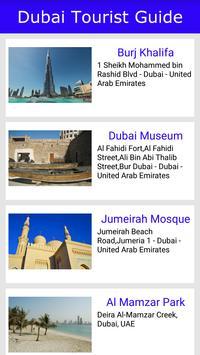 Dubai Tourist Guide poster
