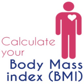 BMI CALCULATOR - Body Mass Index Medical Eat Train icon