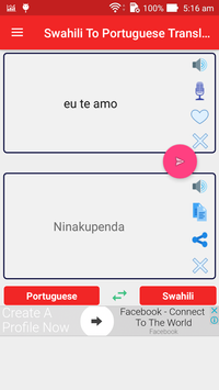 Swahili To Portuguese Translator poster