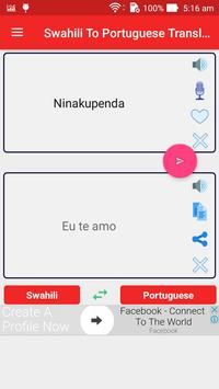 Swahili To Portuguese Translator screenshot 1