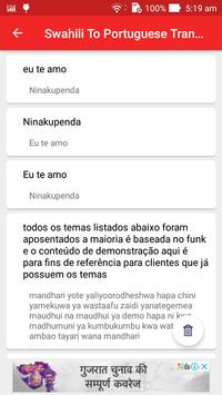 Swahili To Portuguese Translator screenshot 4