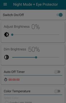 Night Mode + Eye Protector screenshot 1