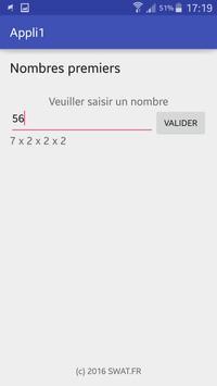 Nombres Premiers apk screenshot