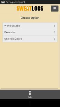 SweatLogs apk screenshot