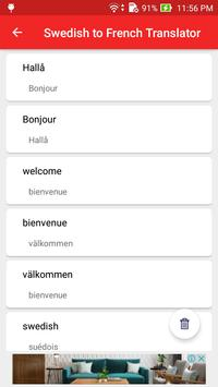 Swedish French Translator screenshot 4