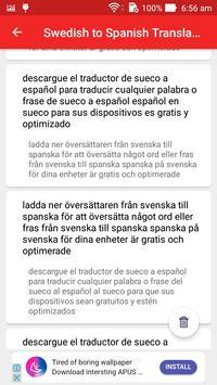 Swedish Spanish Translator screenshot 12