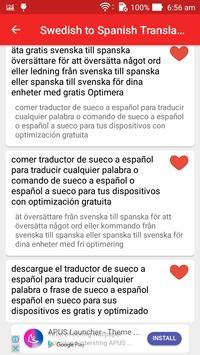 Swedish Spanish Translator screenshot 13