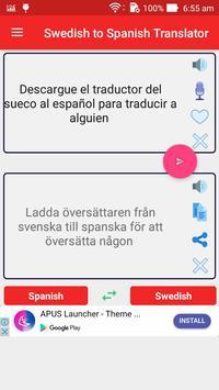 Swedish Spanish Translator screenshot 1