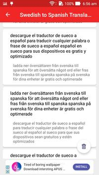 Swedish Spanish Translator screenshot 4