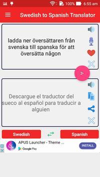 Swedish Spanish Translator screenshot 8