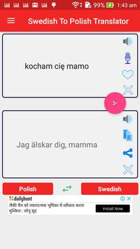 Swedish Polish Translator screenshot 1