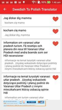 Swedish Polish Translator apk screenshot