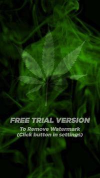 Marijuana Live Wallpaper  - Wispy Smoke FREE poster