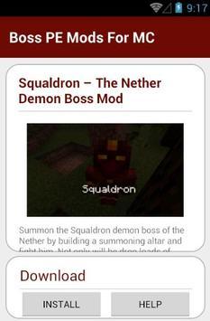 Boss PE Mods For MC apk screenshot