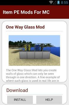 Item PE Mods For MC apk screenshot