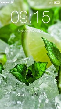 Mojito Drink Cool Lock Screen poster