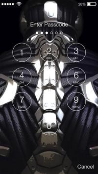 Nanosuit PIN Lock Screen apk screenshot