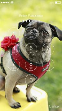 Funny Pug Сomic Lock Screen screenshot 1