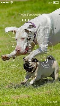 Pug Run Cute Dog Lock Screen apk screenshot