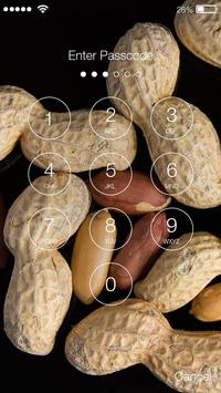 Peanut Nuts PIN Lock Screen apk screenshot