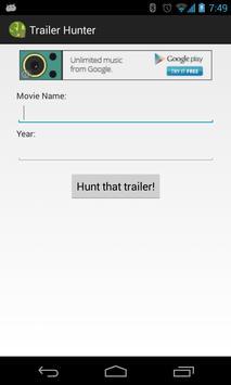 SL Trailer Hunter poster