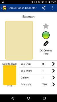 Comic Books Collector apk screenshot
