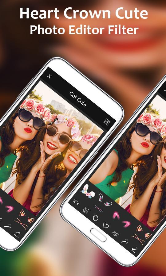 Heart Crown Cute Photo Editor Filter App For Android Apk Download