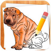 How to Draw Dogs أيقونة
