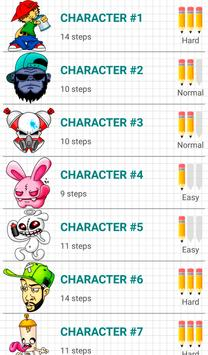 How to Draw Graffiti Characters 截圖 12