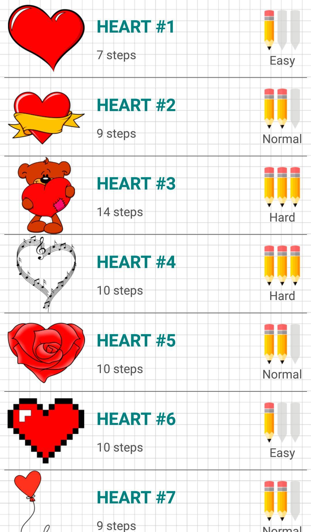 Como Dibujar Corazones De Amor For Android Apk Download