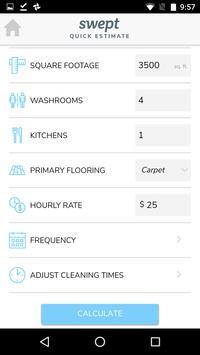 Swept Quick Estimate apk screenshot