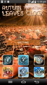 Autumn Leaves Clock LWP poster
