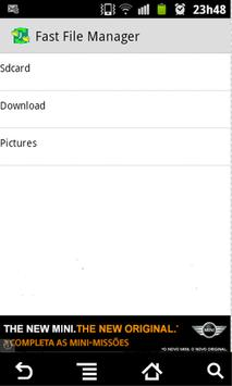 Fast File Manager apk screenshot