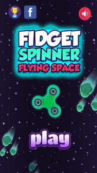 Fidget Spinner - Flying Space poster