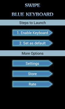Swipe Blue Keyboard apk screenshot