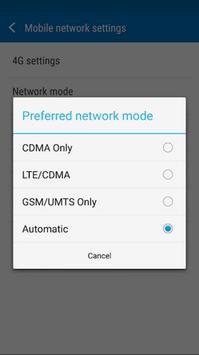 4G Mode Network (Only) screenshot 1
