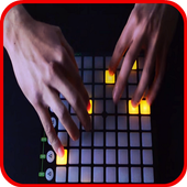 Electro drum pad icon
