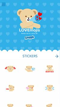 Snuggle LOVEmoji Keyboard screenshot 1