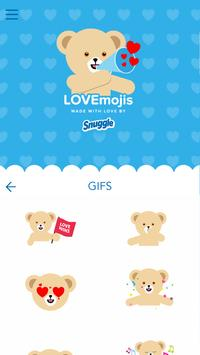 Snuggle LOVEmoji Keyboard screenshot 2