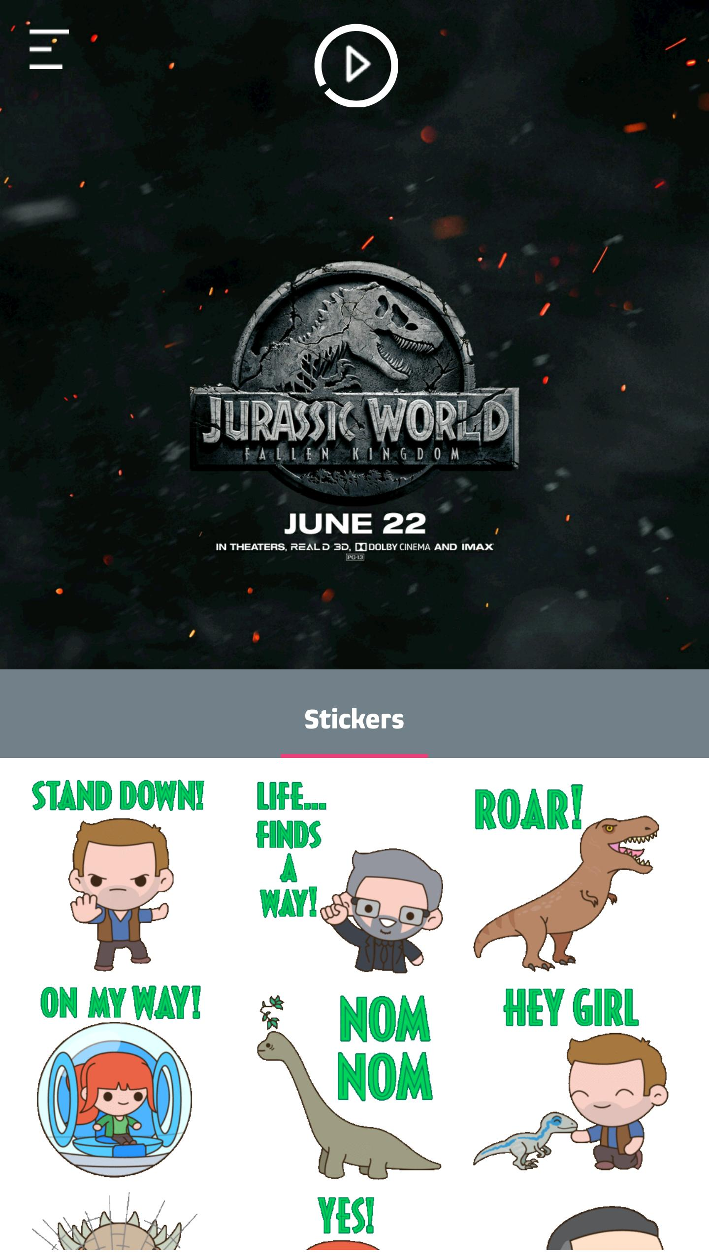 Jurassic World: Fallen Kingdom Stickers for Android - APK